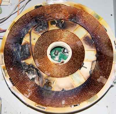 uszkodzone pole płyty indukcyjnej Teka błąd E4