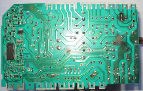 Uszkodzony modu� elektroniczny prorgramatora electrolux - wypalona �cie�ka